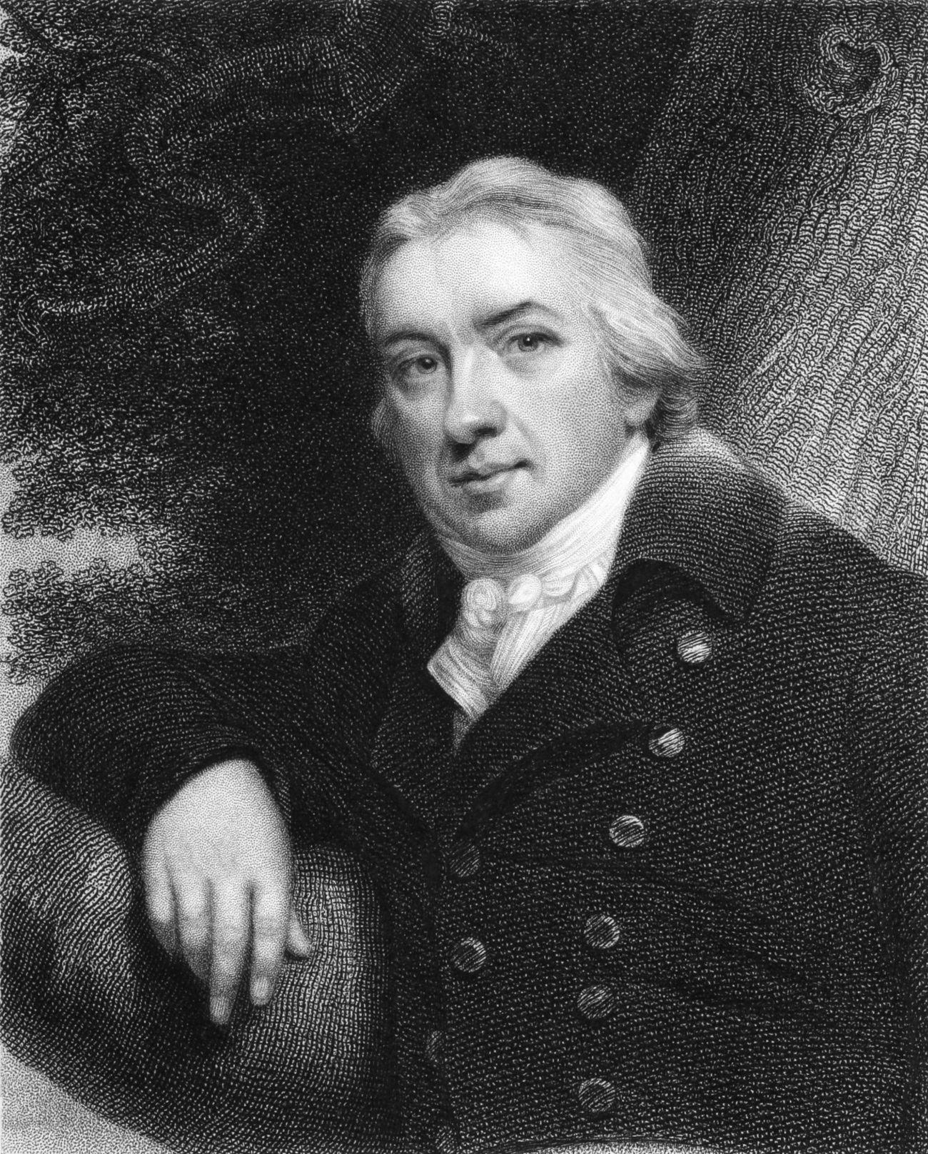 Edward Jenner - odkrywca szczepień ochronnych przeciw ospie.