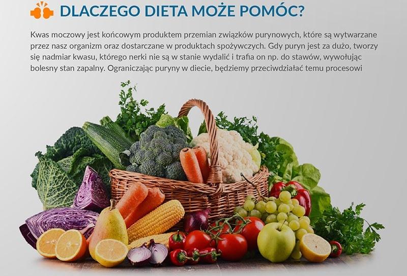W przypadku wykrycia dny moczanowej warto stosować prawidłową dietę.