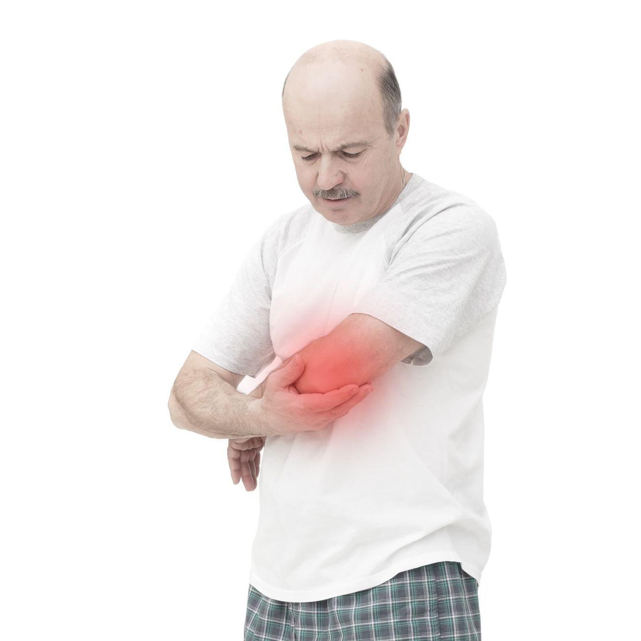 Ból stawów jest jednym ztypowych objawów upacjentów ztoczniem