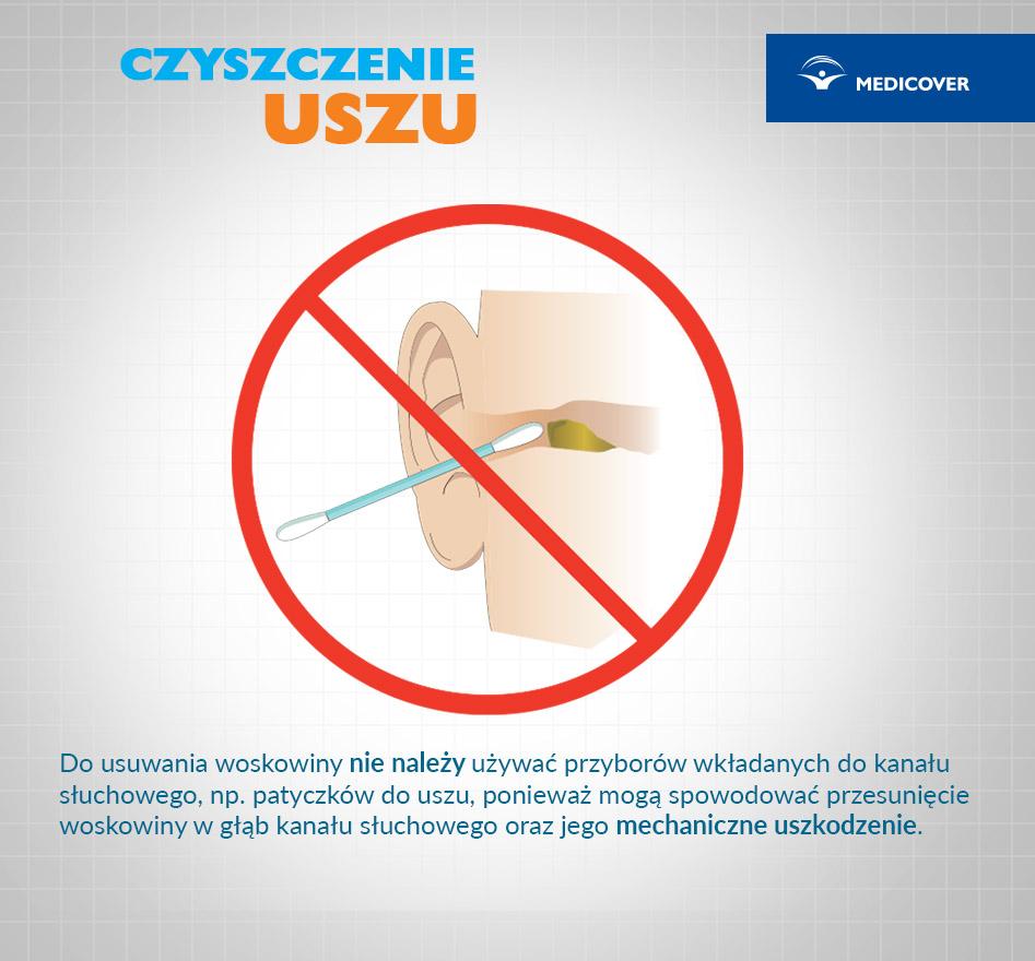 Czyszczenie uszu patyczkiem może być niebezpieczne.